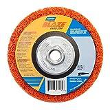 Norton 66254498101 10 Pack 4-1/2in. x 5/8in.-11 Blaze Rapid Strip Ceramic Alumina Extra Coarse Type 27 Depressed Center Disc, Orange