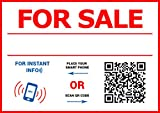 For Sale Sticker - with QR NFC tag - SELL you car, house, apartment, boat QUICKLY - A4 format window decal