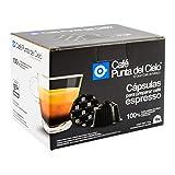 Café Punta del Cielo 7503016743808 Capsulas Espresso Compatibles con Dolce Gusto 16 piezas, color Gris y Negro