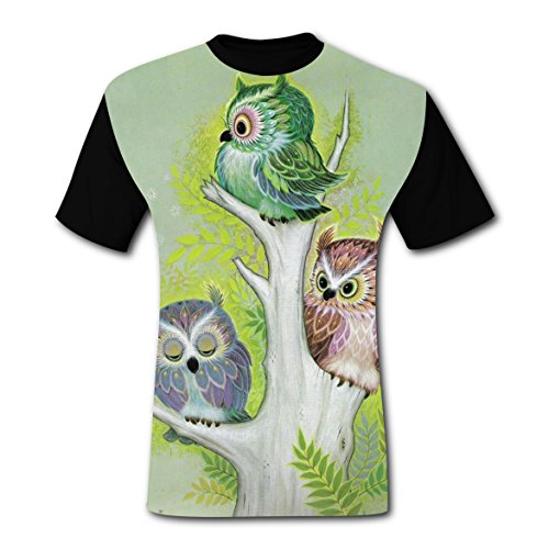 Couples For Costume Ideas Jungle (TreeweenS Night Owl Bird Jungle T-shirts Tee Shirt for Men Tops Costume Round)
