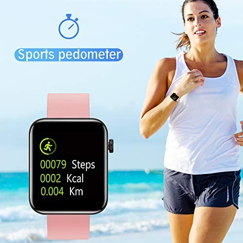 Smart Watch IP67 Sports Waterproof-HAOQIN QS1 HaoWatch Full Touch Smart Watch 1.54″ Screen Fitness Tracker with Heart Rate Sleep Monitor for Men and Women Smart Watches Bluetooth 4.0 Android iOS Pink 51BuwSNjB 2BL