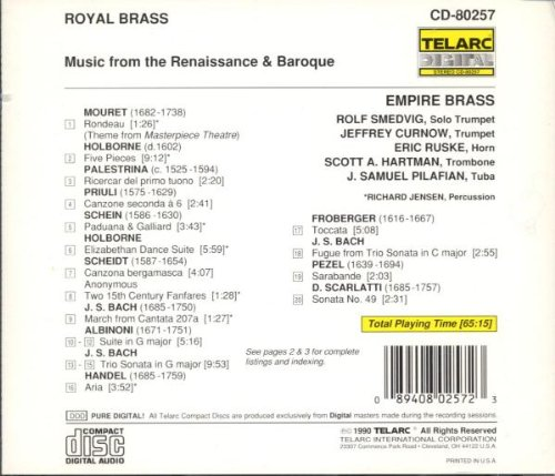 Royal Brass : Music From The Renaissance & Baroque Empire Brass by Empire Brass Quintet