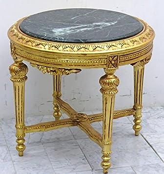 LouisXV Barock Tisch Couchtisch Rund Holz Antik Stil AwTa0254GoGn Antik  Stil Massivholz. Replizierte Antiquitäten Buche