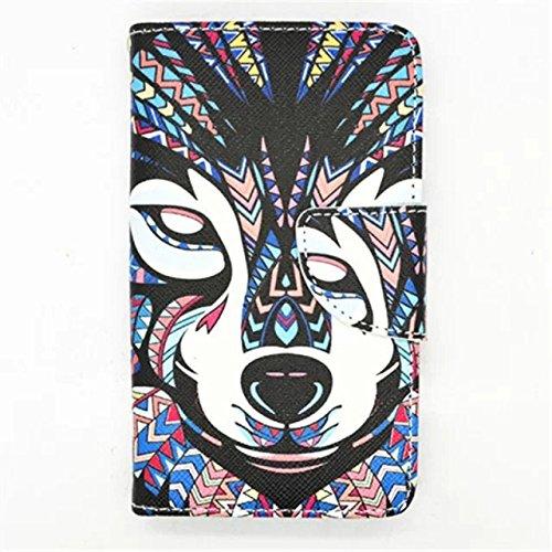 Mybase-L70 Case, LG Optimus L70 Case Animal Pattern Premium PU Leather Wallet Flip Protective Skin Case with Magnetic Closure for LG Optimus L70 Case(Built-in Credit Card/ID Card Slot Newly Printing Inside)+ Tikeda Stylus