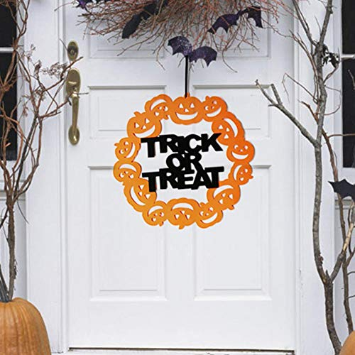 Party DIY Decorations - Halloween Trick Or Treat Pumpkin Door Wall Hanging Sign Party Home Decoration - Decorations Party Party Decorations Halloween Skeleton Pumpkin Child Decor Cloth Trick Tr for $<!--$13.99-->
