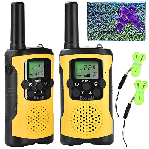 Walkie Talkies for Kids 22 Channel 3 Mile Long Range Many People Use It to Prevent Children's Myopia and Away from Electronic Games Best Birthday Gifts for 4-6 Year Old Boys Girls More Fun Game