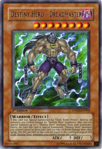 Yu-Gi-Oh! - Destiny Hero - Dreadmaster (DP05-EN004) - Duelist Pack 5 Aster Phoenix - 1st Edition - Rare - Aster Phoenix Duelist Pack