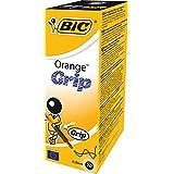 BiC Orange Kugelschreiber mit Grifffläche und durchsichtigem Schaft 0,8 mm Schreibspitze 0,2 mm Strichbreite 20er Pack schwarz