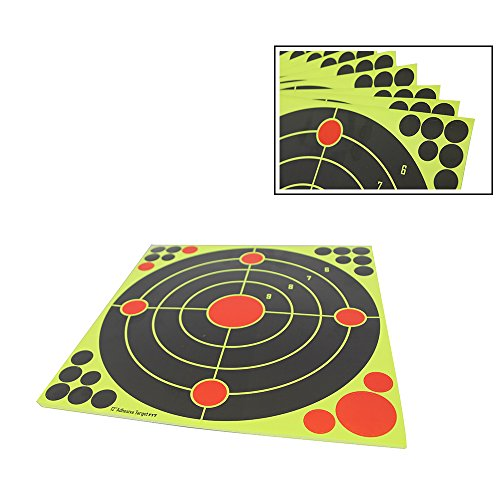 Atflbox Shooting Target 12Inch Bulleye Super Splatter and Adhesive Target.Shooting outdoor and indoor ranges.Rective shooting targets for Gun - Rifle - Pistol - AirSoft - Air Rifle for 25Pack by Atflbox (Image #4)