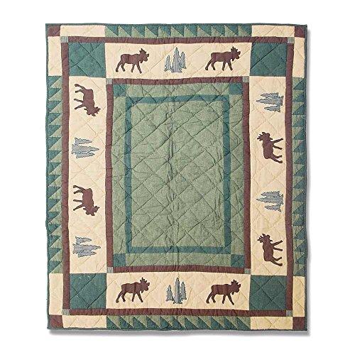 Patch Magic 36-Inch by 46-Inch Cedar Trail Quilt Crib (Crib Cedar)
