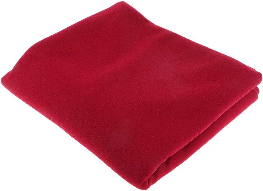 Baoblaze Tejido de Lana Suave al Tacto para Abrigos/Botas/Chaquetas 150x100cm - Vino Rojo