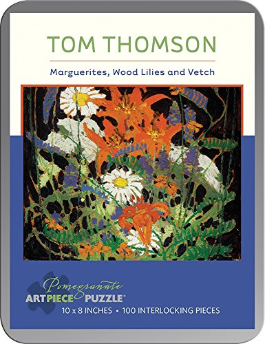 Tom Thomson Marguerites, Wood Lilies and Vetch 100-piece Jigsaw Puzzle