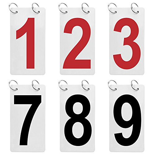 (GOGO 12 Sets Double Sides 0-9 Number Cards, 4