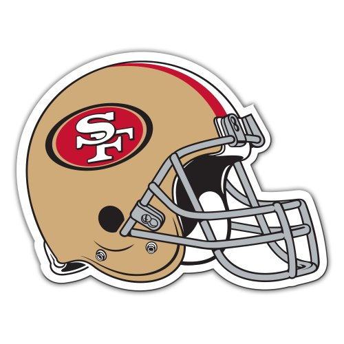 Fremont Die NFL San Francisco 49Ers 12-Inch Vinyl Helmet Magnet