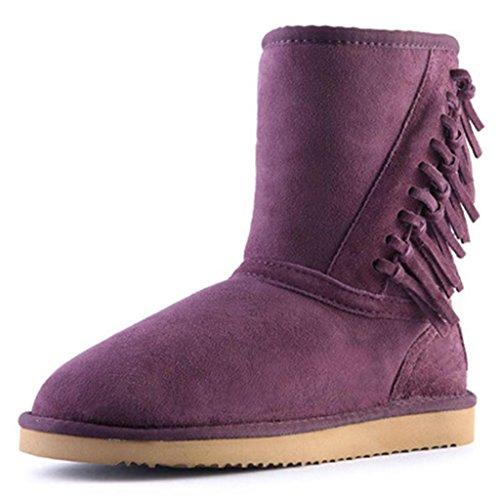 amp;Lartement Neige de à Bottes Purple Le Tube Neige imperméable AL aux Femelle Femmes dans Raquettes Fw4EEO