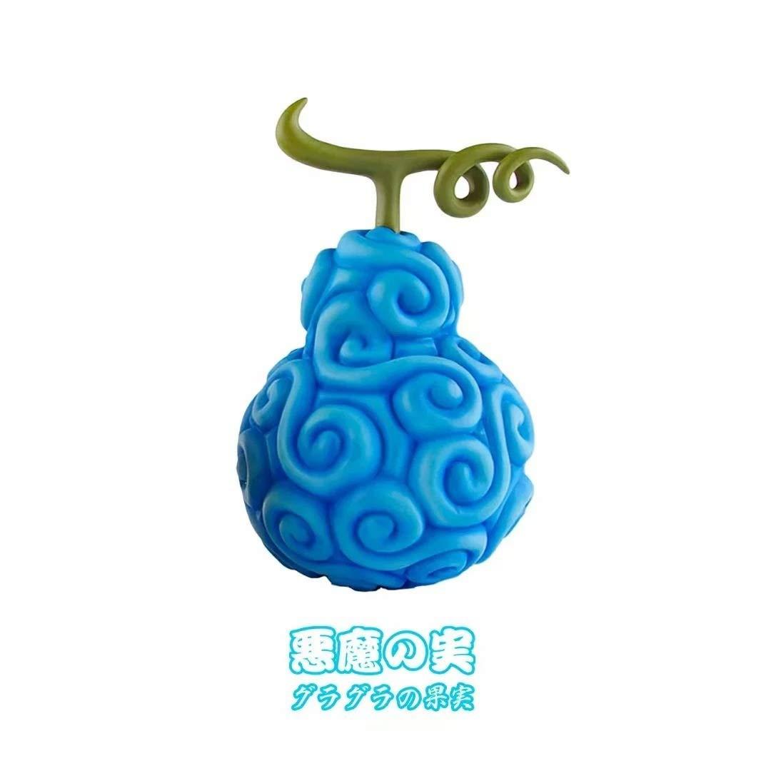 Ly-Figures 6 Pezzi Set One Piece Frutti del Diavolo Modello Statua Gum-Gum Frutta Scura Frutta Mera-mera di Frutta
