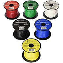 16 GA Single Conductor Stranded Remote Wire 6 Rolls Primary Colors 12V 100'FT EA