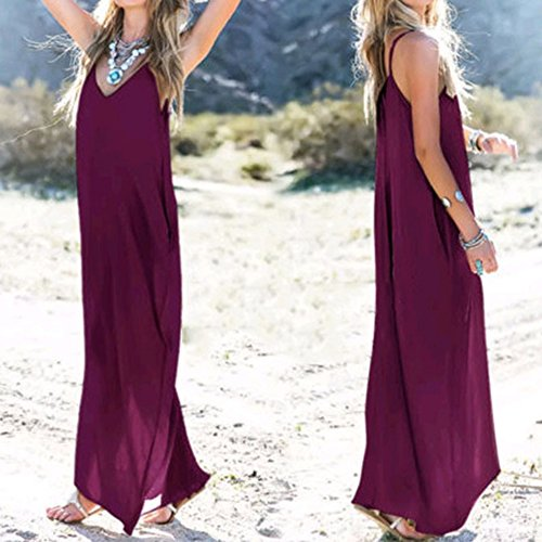 Boho Femmes Loisir Femme Ete Robes Robe Robe Surdimensionn Soire Manches Violet Robes De Tunique Yying Plage Sangle Maxi Sans Dress Longue XxEZBqnq