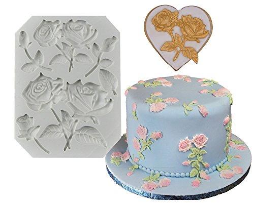 The Easiest Rose Stems Fondant mold Cake Decorating Gumpaste Flowers mold chocolate sugarcraft baking tool