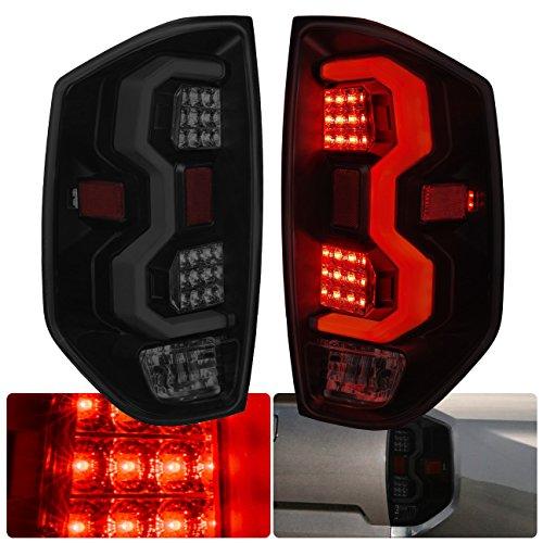 AJP Distributors LED Tail Lights Lamps Upgrade For Toyota Tundra (Black Smoke)