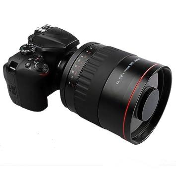 Lightdow - Lente de Espejo de teléfono F8.0 de 900 mm + Anillo ...