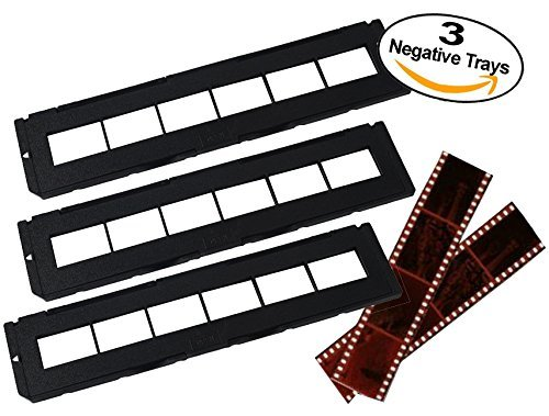 Negative Trays Set of 3 - Fits most zonoz, Wolverine Data, Jumbl, Magnasonic, Digitnow, SainSonic & ClearClick 35mm Slide & Negative Scanners by Negative Tray Holder