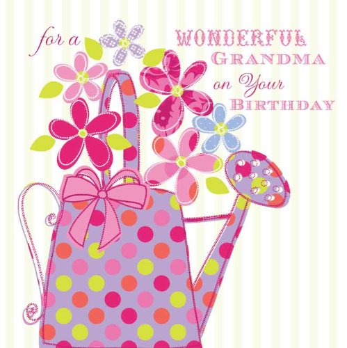 FOR A WONDERFUL GRANDMA ON YOUR BIRTHDAY HANDMADE BIRTHDAY CARD – Birthday Cards for Grandma