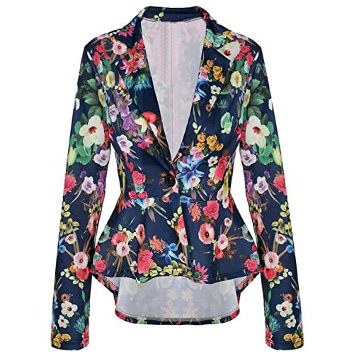 New Fensajomon Womens Fashion Irregualar Hem One Button Blazer Suit Coat Outwear hot sale