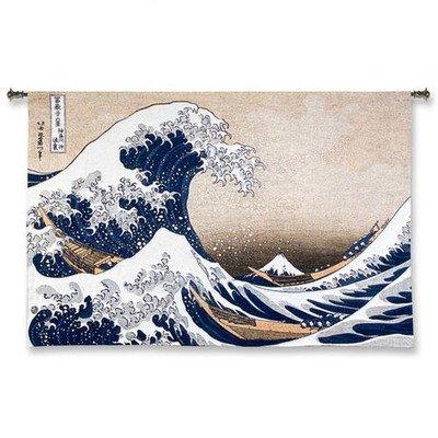 Fine Art Tapestries ''Great Wave at Kanagawa'' Wall Tapestry, Large