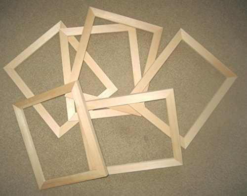 Amazoncom 6 Unfinished 8x10 Wood Picture Frames Handmade