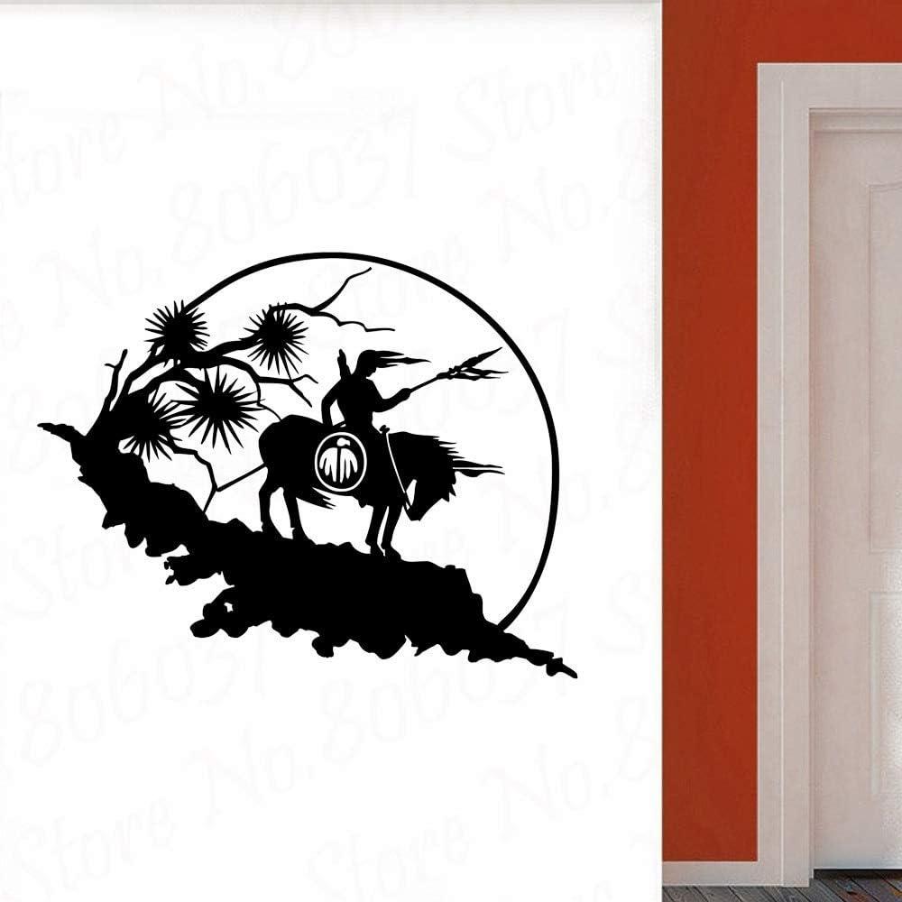 wZUN Caballo Pegatinas de Pared Sala de Estar Dormitorio decoración del hogar Tatuajes de Pared decoración de la habitación Papel Tapiz de Vinilo extraíble 57X23cm