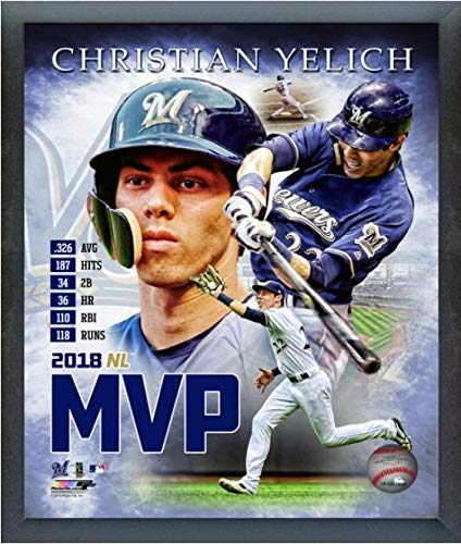 Christian Yelich Milwaukee Brewers 2018 MVP MLB Composite Photo (Size: 9