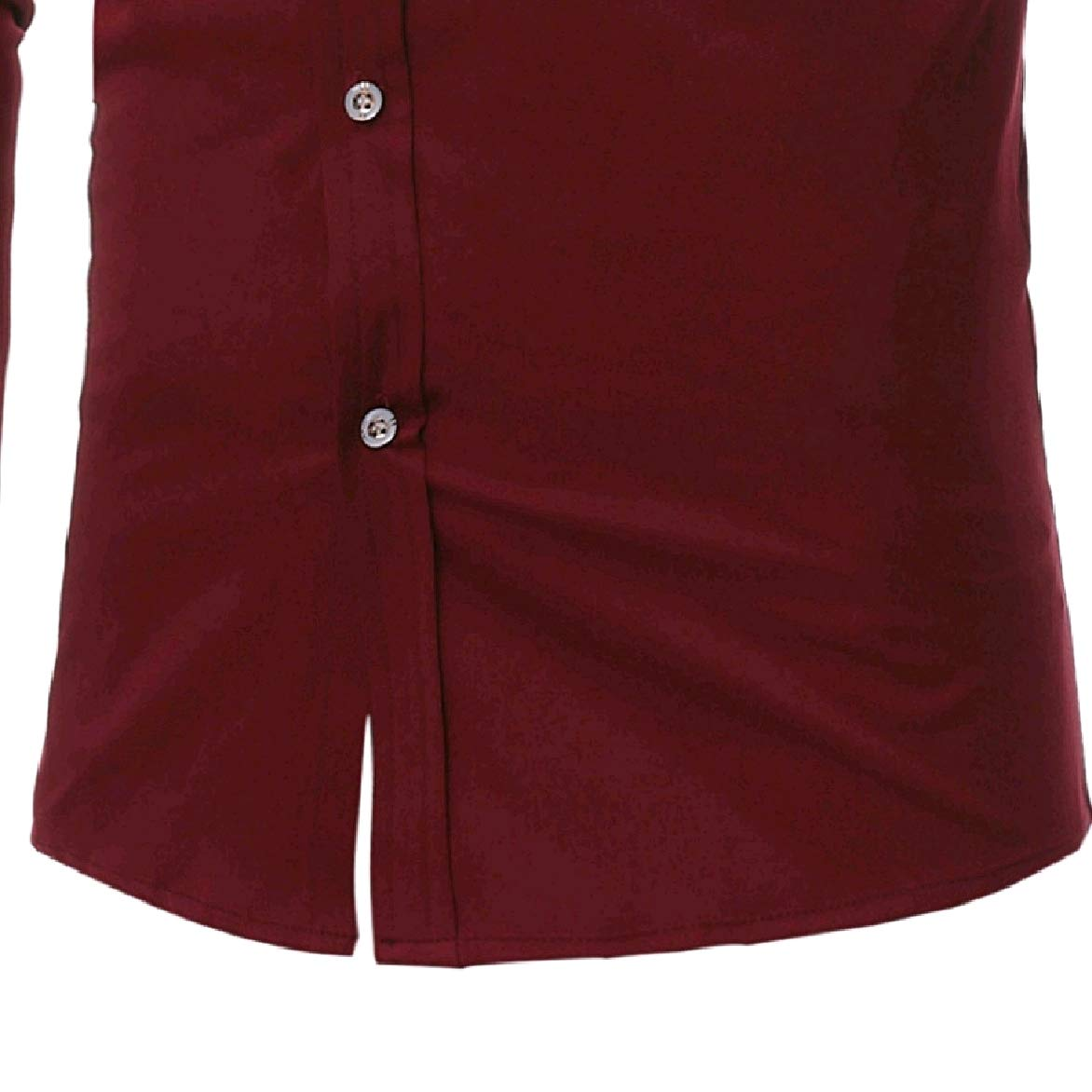 Abetteric Men Embroidery Oversize Silm Fit Business Button Down Shirt