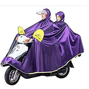 HYBAUDP Raincoat Poncho Set Double Raincoat,Bicycle Electric Car Outdoor Riding Adult Increase Thick Raincoat Poncho Increase Motorcycle Battery Car Raincoat Poncho (Color : Purple, Size : 5XL)