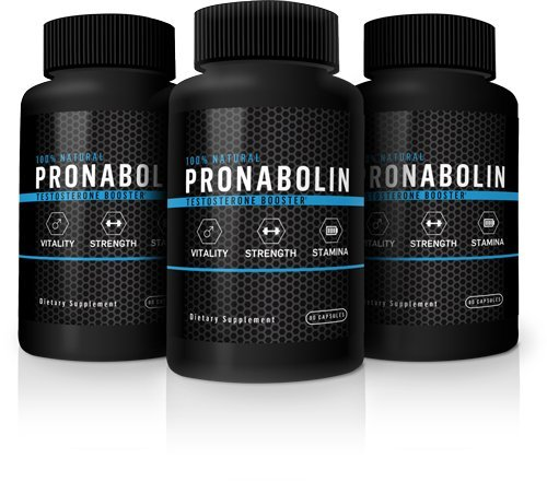 Pronabolin Natural Testosterone Booster, 3-Bottle Solid Boost Pack by Pronabolin