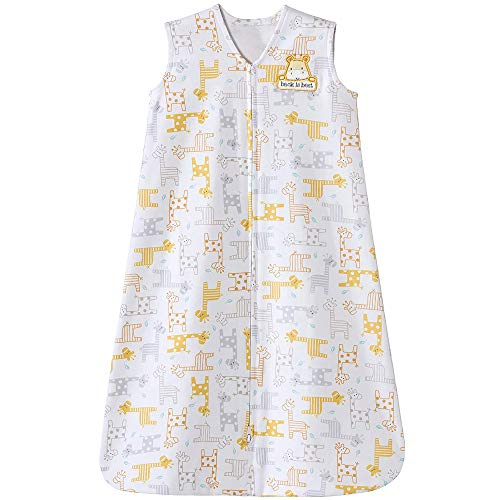 Sleepsack Halo Cotton Wearable Blanket (Halo Sleepsack 100% Cotton Wearable Blanket, Giraffe, Medium)