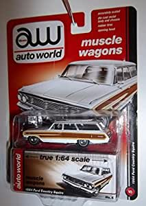 Auto World Muscle Wagons 1964 Ford Country Squire 1:64 Scale