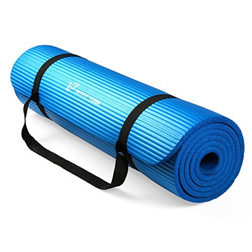 RitFit 1/2-Inch Extra Thick High Density NBR Exercise Yoga Mat for Pilates,...