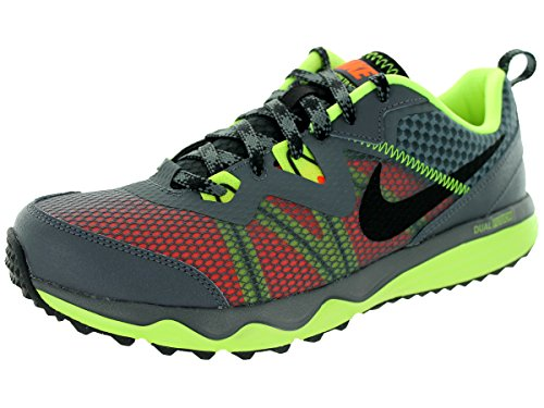 Nike Men's Dual Fusion Trail Dark Grey/Black/VltHypr Crmsn Running Shoe 9 Men US