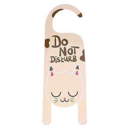 STOBOK lindo cartel de la puerta del gato no molestar ...