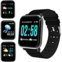 Deals on Royadvs Smart Watch Fitness Tracker w/Heart Rate Monitor