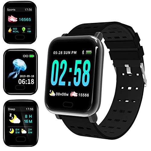 Smart Watch,Fitness Tracker with Heart Rate Monitor,GPS Tracker,IP67 Waterproof Fitness Watch with Pedometer,Smartwatch…