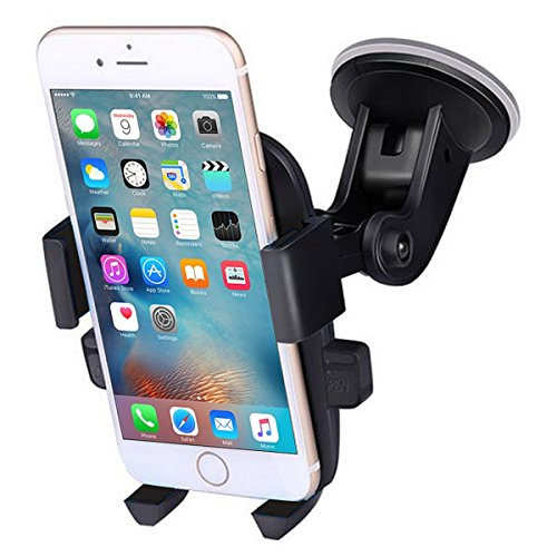 - Madeggs Car Phone Holder Car Mount Suction on Windshield 360 Degrees Rotation Freely Adjustable for iPhone Xs Max/XS/XR/8 Plus Samsung Galaxy S9/S8 Plus and More Universal Phone (Black)