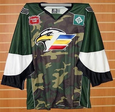 Image Unavailable. Image not available for. Color  Colorado Eagles CHL  Authentic On Ice Game Issued Military Camo Hockey Jersey ... b6bb35f4e