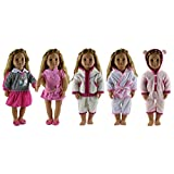 "HongShun 5 Set Doll Clothes for 18"" American girl Handmade Lovely Clothes"