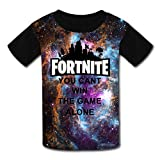 Kids Fortnite You Cant Win The Game Alone Casual T-Shirt Youth Short Sleeve