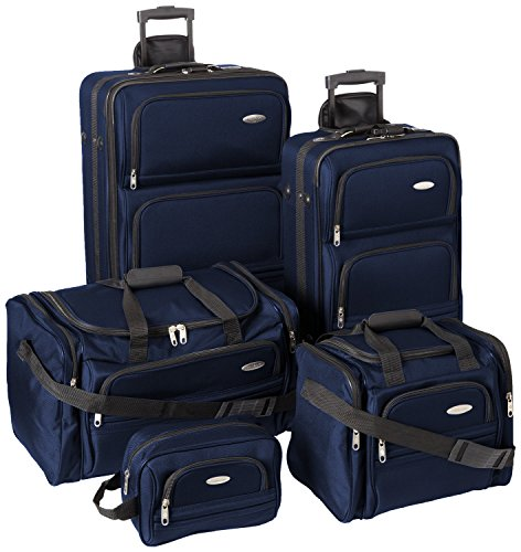 Samsonite Outpost 5 Piece Nested Luggage Set (one size, Navy) (Samsonite Luggage 26)