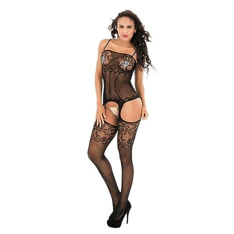 And suspenders stockings Silk