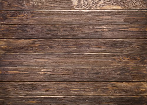 LYWYGG 7x5ft Thin Vinyl Brown Wood Backdrop Photographers Retro Wood Wall Background Cloth Seamless CP-19 by LYWYGG (Image #2)