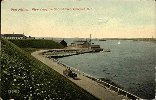 Fort Adams, View Along the Shore Drive Newport, Rhode Island Original Vintage Postcard
